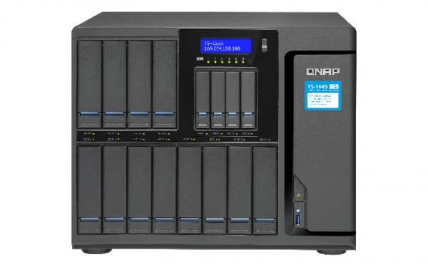 Qnap TS-1685-D1521-16G 16-Bay 120TB Bundle mit 12x 10TB IronWolf Pro ST10000NE0004
