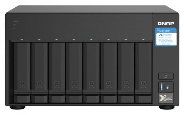 QNAP TS-832PX-4G 8-Bay 24TB Bundle mit 2x 12TB Gold WD121KRYZ
