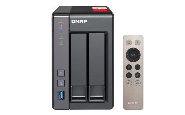 Qnap TS-251+-2G 2-Bay 2TB Bundle mit 1x 2TB IronWolf Pro ST2000NE0025