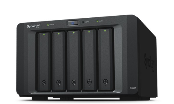 Synology DX517 5-Bay 10TB Bundle mit 5x 2TB P300 HDWD120