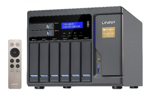 Qnap TVS-882T-i5-16G 8-Bay 40TB Bundle mit 5x 8TB Red WD80EFAX