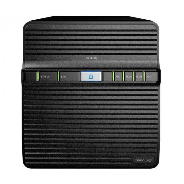 Synology DS420j 4-Bay 24TB Bundle mit 2x 12TB Gold WD121KRYZ