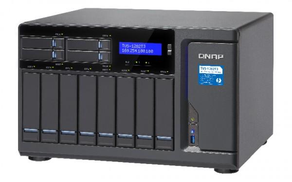 Qnap TVS-1282T3-I5-16G 12-Bay 64TB Bundle mit 8x 8TB IronWolf ST8000VN0004