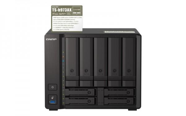 QNAP TS-h973AX-16G Qnap RAM 9-Bay 24TB Bundle mit 2x 12TB Gold WD121KRYZ