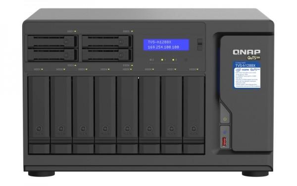 QNAP TVS-h1288X-W1250-128G 12-Bay 40TB Bundle mit 4x 10TB Gold WD102KRYZ