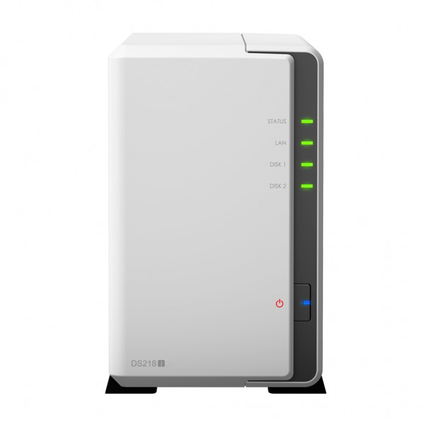 Synology DS218j 2-Bay 2TB Bundle mit 2x 1TB Red WD10EFRX
