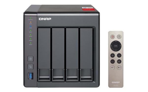 Qnap TS-451+8G 4-Bay 4TB Bundle mit 2x 2TB Gold WD2005FBYZ