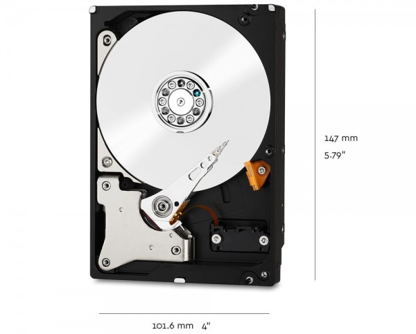 10000GB WD Red NAS Hard Drive WD100EFAX - Festplatte - 10 TB - SATA 6Gb/s