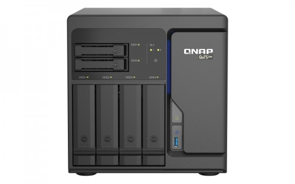 QNAP TS-h686-D1602-8G 6-Bay 40TB Bundle mit 4x 10TB Gold WD102KRYZ