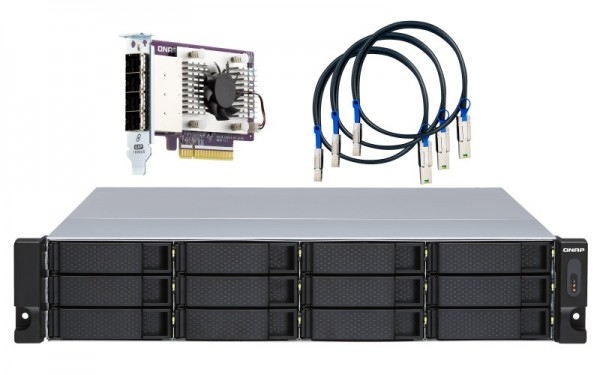 QNAP TL-R1200S-RP 12-Bay 120TB Bundle mit 12x 10TB Gold WD102KRYZ