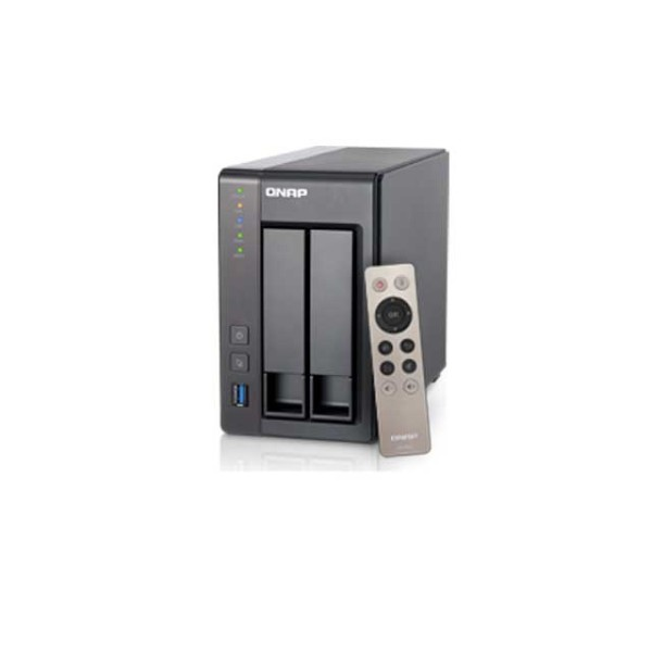 Qnap TS-251+ 2.0GHz QuadCore 2GB Ram 2-Bay NAS Server 6TB Bundle mit 2x 3TB HDs 7200U/min