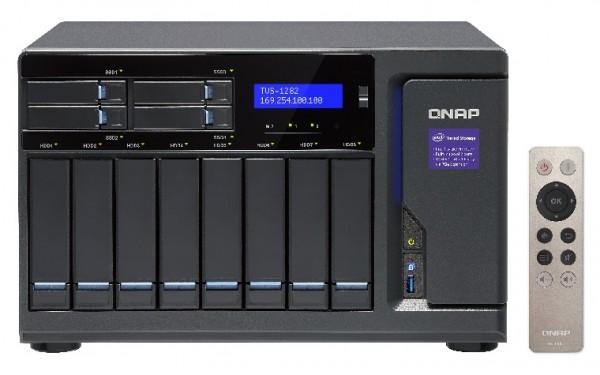 Qnap TVS-1282-i3-8G 12-Bay 64TB Bundle mit 8x 8TB Red Pro WD8003FFBX