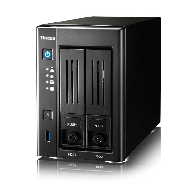 Thecus N2810PRO 2-Bay 3TB Bundle mit 1x 3TB HDs