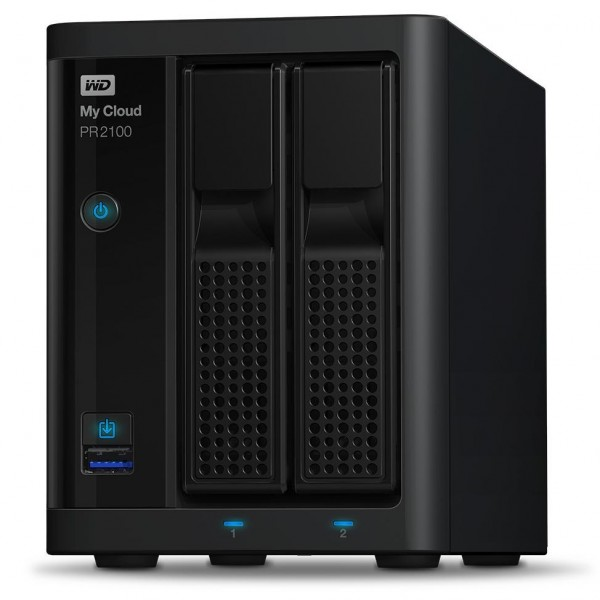 Western Digital My Cloud PR2100 2-Bay 8TB Bundle mit 1x 8TB Red WD80EFAX