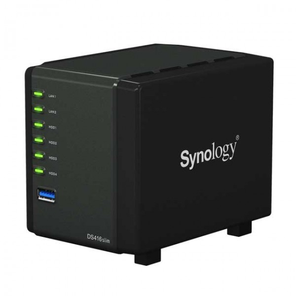 Synology DS416slim NAS 1.0GHz Dualcore Bundle mit 4x 2000GB 2.5 Zoll Seagate