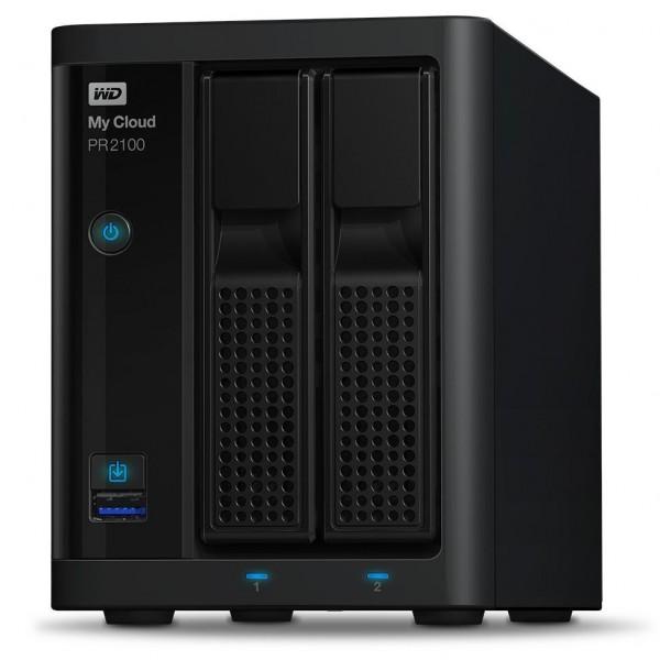 Western Digital My Cloud PR2100 2-Bay 12TB Bundle mit 1x 12TB Gold WD121KRYZ
