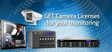 Qnap Kameralizenz für Surveillance Station Pro 4 Kameras
