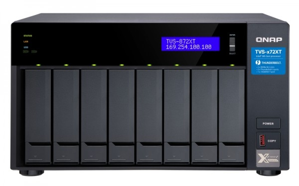 Qnap TVS-872XT-i5-16G 8-Bay 24TB Bundle mit 2x 12TB Gold WD121KRYZ