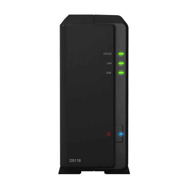 Synology DS118 1-Bay 2TB Bundle mit 1x 2TB Gold WD2005FBYZ
