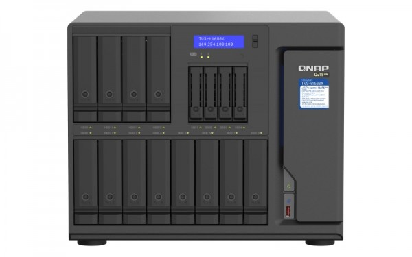 QNAP TVS-h1688X-W1250-32G 16-Bay 120TB Bundle mit 12x 10TB Gold WD102KRYZ