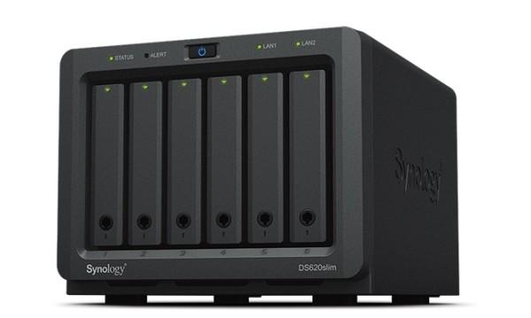 Synology DS620slim 6-Bay 10TB Bundle mit 5x 2TB Samsung SSD 860 Pro