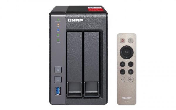 Qnap TS-251+-2G 2-Bay 8TB Bundle mit 1x 8TB Red WD80EFAX