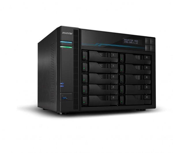 Asustor AS6510T 10-Bay 24TB Bundle mit 2x 12TB Gold WD121KRYZ