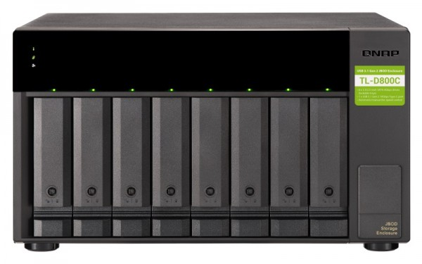 QNAP TL-D800C 8-Bay 80TB Bundle mit 8x 10TB Gold WD102KRYZ