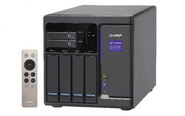 Qnap TVS-682-i3-8G 3.7GHz i3 DualCore 6-Bay NAS 16TB Bundle mit 4x 4TB WD4002FFSX WD Red Pro