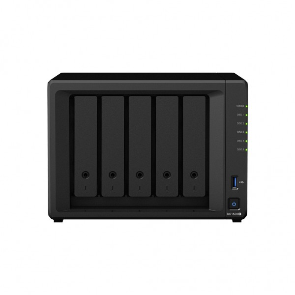Synology DS1520+ 5-Bay 24TB Bundle mit 2x 12TB Gold WD121KRYZ