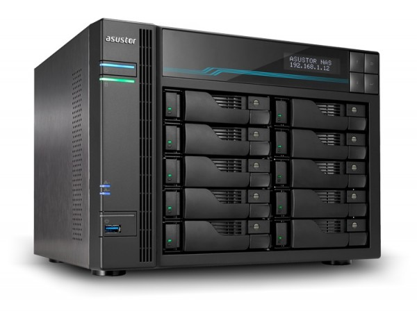 Asustor AS7110T 10-Bay 100TB Bundle mit 10x 10TB Gold WD102KRYZ