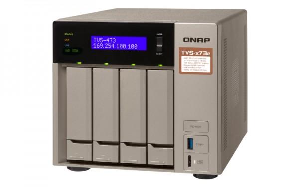 Qnap TVS-473e-8G QNAP RAM 4-Bay 24TB Bundle mit 2x 12TB Gold WD121KRYZ