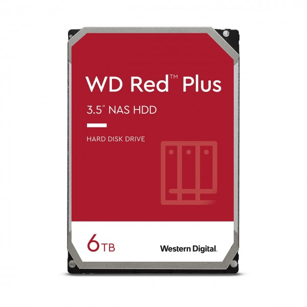 6000GB WD Red Plus, SATA 6Gb/s (WD60EFZX)
