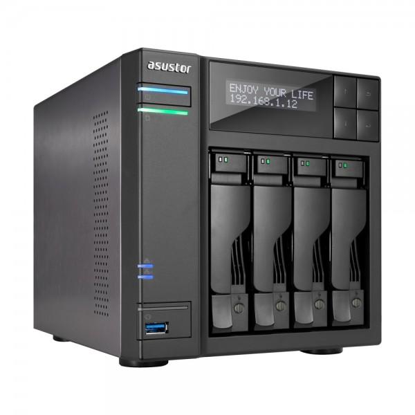 Asustor AS7004T-I3 4-Bay 40TB Bundle mit 4x 10TB Gold WD102KRYZ