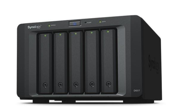 Synology DX517 5-Bay 24TB Bundle mit 4x 6TB Red WD60EFAX