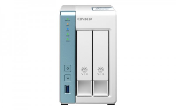 QNAP TS-231P3-2G 2-Bay 24TB Bundle mit 2x 12TB Gold WD121KRYZ