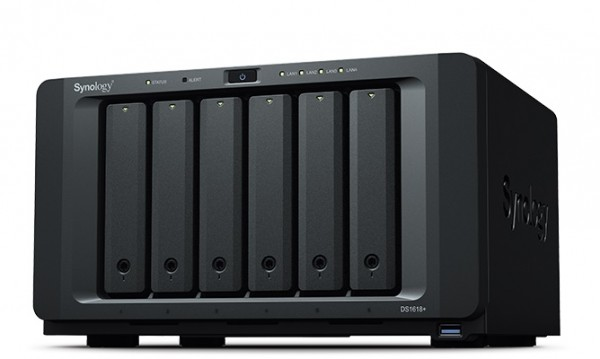 Synology DS1618+(4G) 6-Bay 8TB Bundle mit 4x 2TB Red WD20EFRX