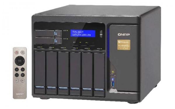 Qnap TVS-882T-i5-16G 3.6GHz Thunderbolt 8-Bay NAS 48TB Bundle mit 6x 8TB WD8001FFWX Red Pro
