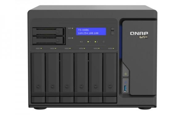 QNAP TS-h886-D1622-16G 8-Bay 24TB Bundle mit 2x 12TB Gold WD121KRYZ