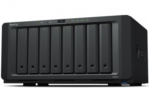 Synology DS1821+(16G) Synology RAM 8-Bay 70TB Bundle mit 7x 10TB Gold WD102KRYZ