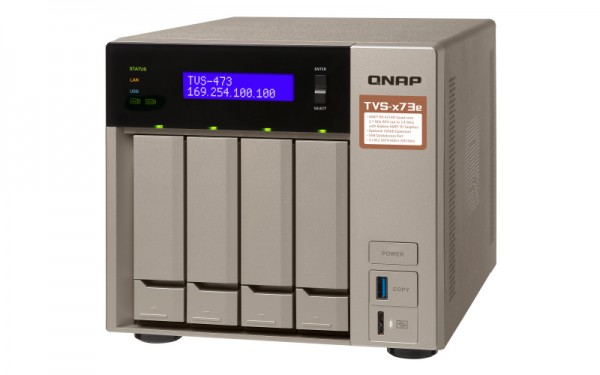 Qnap TVS-473e-4G 4-Bay 8TB Bundle mit 2x 4TB Red WD40EFAX