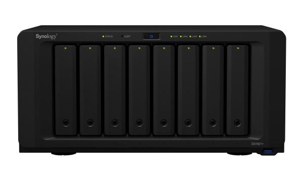 Synology DS1821+ 8-Bay 70TB Bundle mit 7x 10TB Gold WD102KRYZ