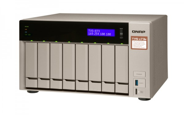 Qnap TVS-873e-8G QNAP RAM 8-Bay 70TB Bundle mit 7x 10TB IronWolf ST10000VN0008