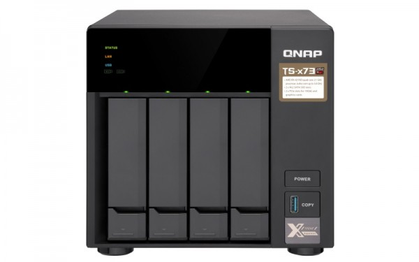 Qnap TS-473-4G 4-Bay 8TB Bundle with 4x 2TB Red WD20EFRX