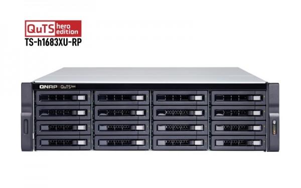 QNAP TS-h1683XU-RP-E2236-128G 16-Bay 80TB Bundle mit 8x 10TB Gold WD102KRYZ