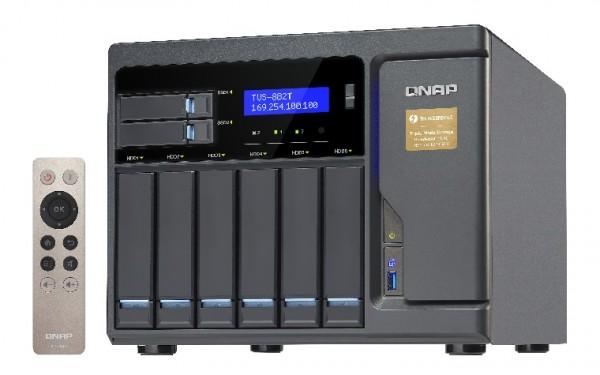 Qnap TVS-882T-i5-16G 8-Bay 16TB Bundle mit 2x 8TB Red Pro WD8003FFBX
