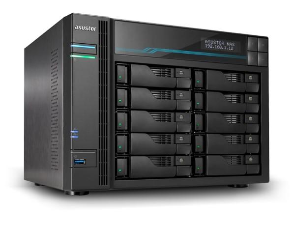 Asustor AS7110T 10-Bay 90TB Bundle mit 9x 10TB Gold WD102KRYZ
