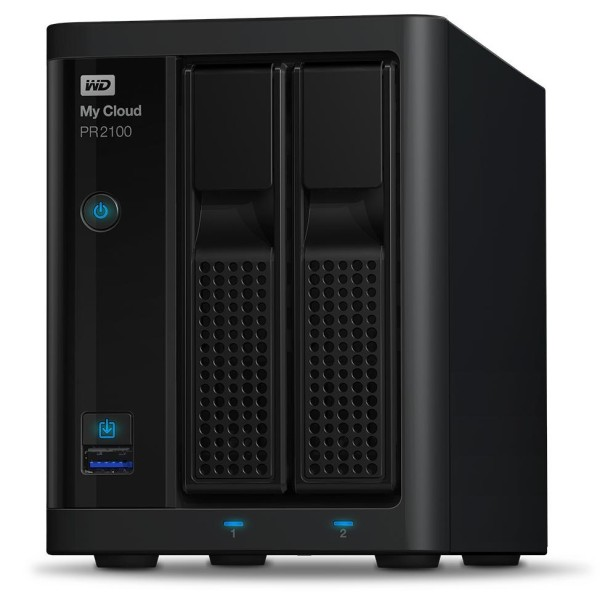 Western Digital My Cloud PR2100 2-Bay 1TB Bundle mit 1x 1TB Red WD10EFRX