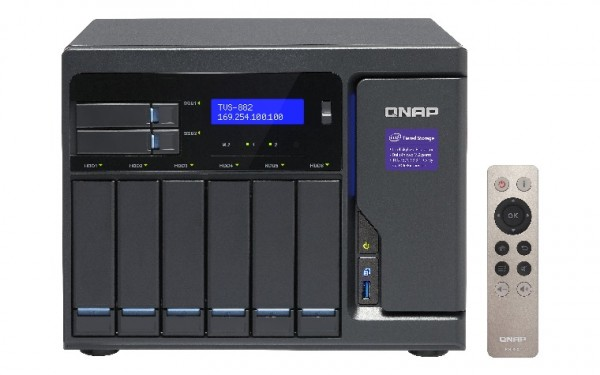 Qnap TVS-882-i3-8G 8-Bay 8TB Bundle mit 4x 2TB Red WD20EFAX