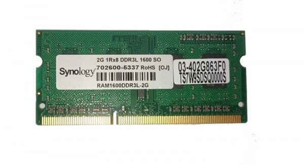 Arbeitsspeicher 2GB, DDR3-RAM, SO-DIMM (1600MHz, 204pin, CL11, 1Rx8) Synology, Qnap, Notebook-Laptop